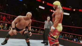 WWE 2K20 TV Spot, 'Ballroom Brawl: Holiday Savings' Featuring Hulk Hogan, Steve Austin, Roman Reigns - Thumbnail 4