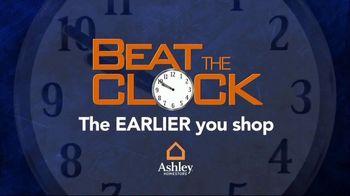 Ashley HomeStore Beat the Clock Sale TV Spot, 'The Earlier You Shop: 55 Percent Off' - Thumbnail 1
