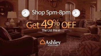 Ashley HomeStore Beat the Clock Sale TV Spot, 'The Earlier You Shop: 55 Percent Off' - Thumbnail 3