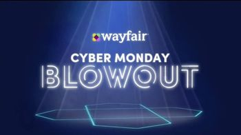 Wayfair Cyber Monday Blowout TV Spot, 'Living Room Seating, Storage Solutions & Area Rugs'