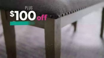 Ashley HomeStore Black Friday Sale TV Spot, 'Held Over: Zero Interest and Extra $100 Off' - Thumbnail 8