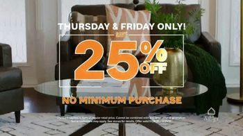 Ashley HomeStore Black Friday TV Spot, '25 Percent Off Storewide' - Thumbnail 2