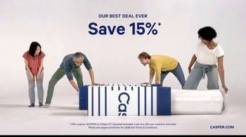 Casper Black Friday and Cyber Monday Sale TV Spot, 'Best Deal Ever: 15% Off' - Thumbnail 3