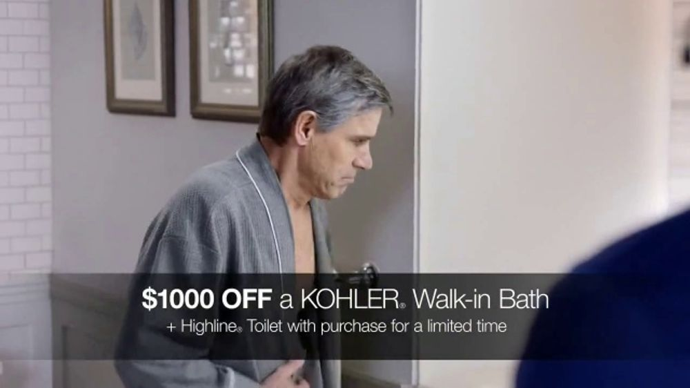 Kohler Walk-In Bath TV Commercial, 'Independence With Peace of Mind: $1,000 Off'