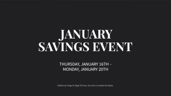 JoS. A. Bank January Savings Event TV Spot, 'Suits and Dress Shirts' - Thumbnail 6