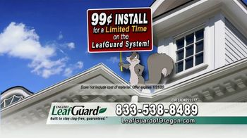 LeafGuard of Oregon 99 Cent Install Sale TV Spot, 'Costly Damage'