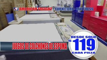 American Freight Venta de Almacén TV Spot, 'Juegos de colchones' [Spanish]