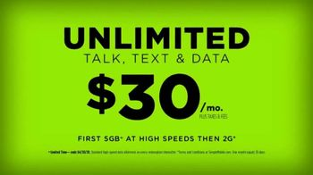 SIMPLE Mobile TV Spot, 'No-Contract Advantage: $30'