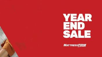 Mattress Firm Year End Sale TV Spot, 'Save $400 and Free Adjustable Base'