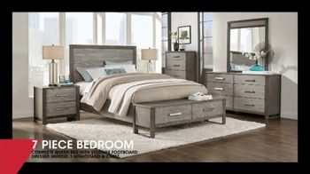 Rooms to Go January Clearance Sale TV Spot, 'Seven-Piece Bedroom: $1,255'