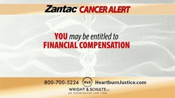 Wright & Schulte, LLC TV Spot, 'Zantac Cancer Lawsuit'