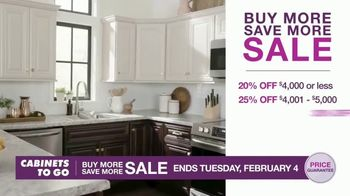 Cabinets To Go Buy More Save More Sale TV Spot, 'Less Dough'