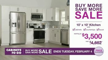 Cabinets To Go Buy More Save More Sale TV Spot, 'Less Dough' - Thumbnail 2