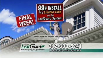 LeafGuard of Chicago 99 Cent Install Sale TV Spot, 'Soaked Roof Decking' - Thumbnail 6