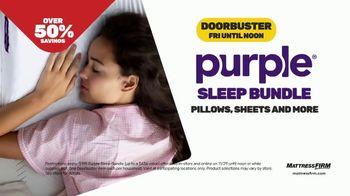 Mattress Firm Black Friday Sale TV Spot, 'Serta PerfectSleeper and Purple Bundle' - Thumbnail 8