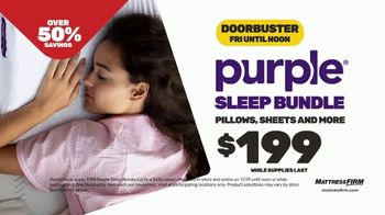 Mattress Firm Black Friday Sale TV Spot, 'Serta PerfectSleeper and Purple Bundle'