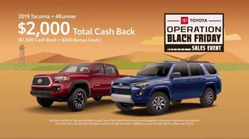 Toyota Operation Black Friday Sales Event TV Spot, 'Tacoma and 4Runner' [T2] - Thumbnail 5