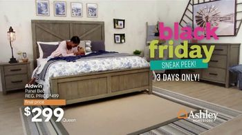 Ashley HomeStore Black Friday Sneak Peak TV Spot, 'Aldwin Panel Bed, Harrietson Sofa' - Thumbnail 2