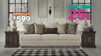 Ashley HomeStore Black Friday Sneak Peak TV Spot, 'Aldwin Panel Bed, Harrietson Sofa' - Thumbnail 3