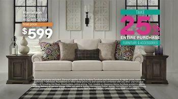 Ashley HomeStore Black Friday Sneak Peak TV Spot, 'Aldwin Panel Bed, Harrietson Sofa' - Thumbnail 4