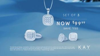 Kay Jewelers Black Friday Event TV Spot, 'Three Piece Diamond Set' - Thumbnail 6