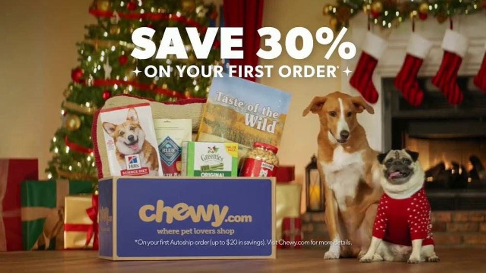 Chewy.Com Christmas Commercial 2020 Chewy.TV Commercial, 'Holidays: Unbox Holiday Savings'   iSpot.tv