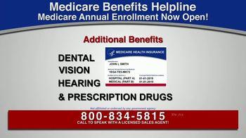 Medicare Benefits Helpline TV Spot, 'Additional Benefits: Hearing Aids, Glasses, Meal Delivery'