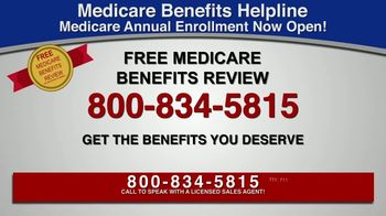 Medicare Benefits Helpline TV Spot, 'Additional Benefits: Hearing Aids, Glasses, Meal Delivery' - Thumbnail 2