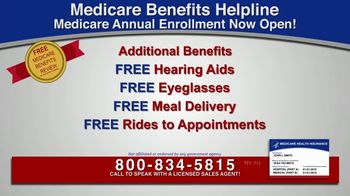 Medicare Benefits Helpline TV Spot, 'Additional Benefits: Hearing Aids, Glasses, Meal Delivery' - Thumbnail 3