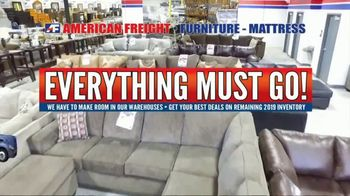 American Freight TV Spot, 'Everything Must Go: Bedrooms, Living and Dining Rooms' - Thumbnail 1