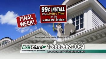 LeafGuard of Philadelphia 99 Cent Install Sale TV Spot, 'What's In Your Gutters' - Thumbnail 4