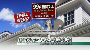 LeafGuard of Philadelphia 99 Cent Install Sale TV Spot, 'What's In Your Gutters' - Thumbnail 6