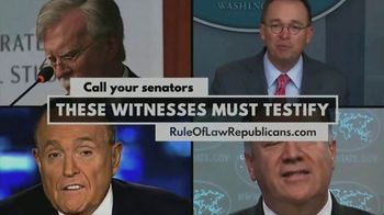 Republicans for the Rule of Law TV Spot, 'These Witnesses Must Testify' - Thumbnail 9