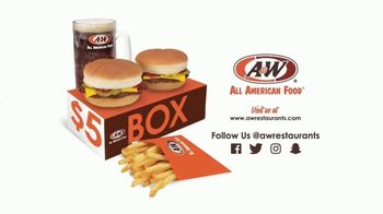 A&W Restaurants $5 Box TV Spot, 'A Big Deal'