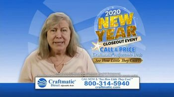 Craftmatic 2020 New Year Closeout Event TV Spot, 'Crazy Mattress Lady'