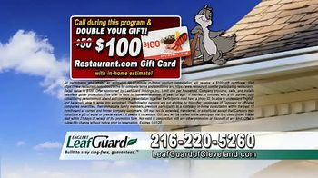 LeafGuard of Cleveland 99 Cent Install Sale TV Spot, 'Not a Cover' - Thumbnail 8
