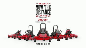 Gravely Mow the Distance Sales Event TV Spot, 'Miles and Miles' - Thumbnail 10