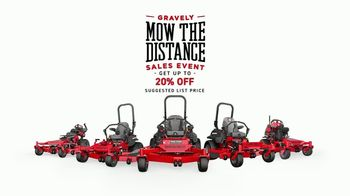 Gravely Mow the Distance Sales Event TV Spot, 'Miles and Miles' - Thumbnail 9