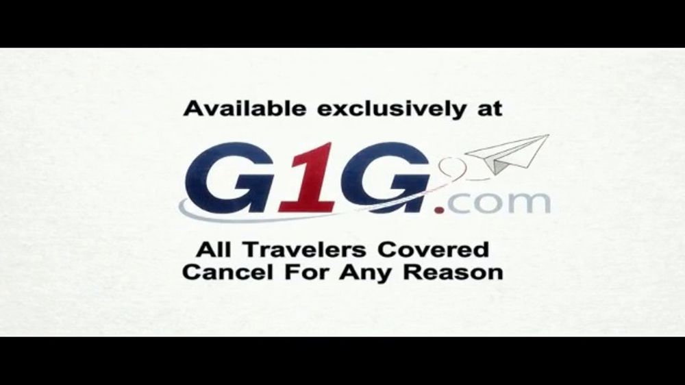 G1G TV Commercial, 'Don't Travel Without It'