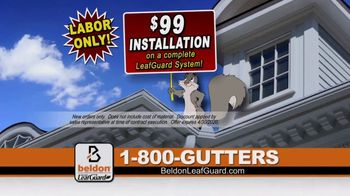 Beldon LeafGuard $99 Installation Sale TV Spot, 'Spill' - Thumbnail 5