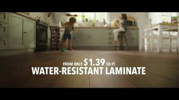 Lumber Liquidators TV Spot, 'Water-Resistant Laminate & Hardwoods' Song by Electric Banana - Thumbnail 4