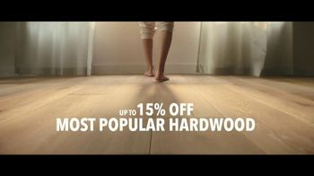 Lumber Liquidators TV Spot, 'Water-Resistant Laminate & Hardwoods' Song by Electric Banana - Thumbnail 6