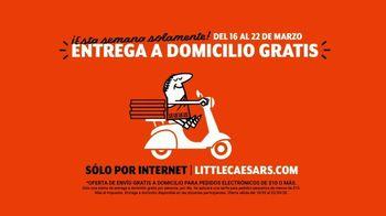 Little Caesars Pizza TV Spot, 'Timbre de la puerta: entrega gratis' [Spanish] - Thumbnail 7