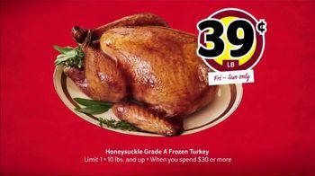 Winn-Dixie Weekend Sale TV Spot, 'Honeysuckle Frozen Turkey' - Thumbnail 4