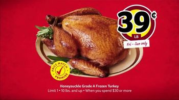 Winn-Dixie Weekend Sale TV Spot, 'Honeysuckle Frozen Turkey' - Thumbnail 5