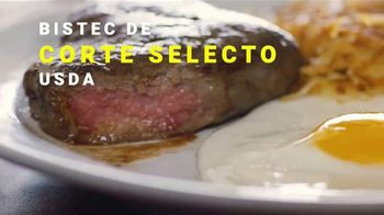 Denny's Sirloin Steak & Eggs TV Spot, 'Lo mejor de los dos mundos' [Spanish] - Thumbnail 5