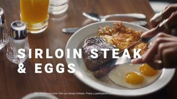 Denny's Sirloin Steak & Eggs TV Spot, 'Lo mejor de los dos mundos' [Spanish] - Thumbnail 6