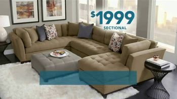 Rooms to Go Holiday Sale TV Spot, \'Sectionals: $1,999\'