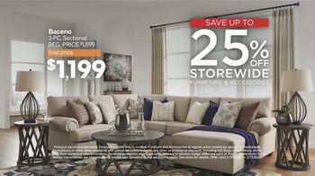 Ashley HomeStore Presidents Day Sale TV Spot, 'Final Four Days: 25%' Song by Midnight Riot - Thumbnail 3