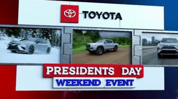 Toyota Presidents Day Weekend Event TV Spot, 'Get Connected' [T2] - Thumbnail 1